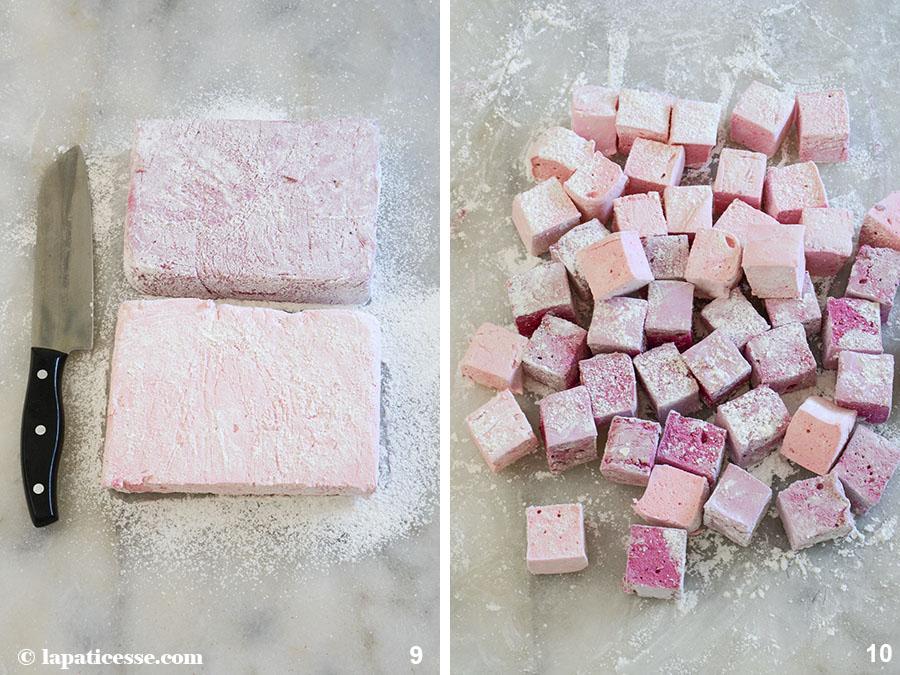 Marshmallow selber machen Himbeer Mango Blaubeere Rezept Zubereitung 9-10
