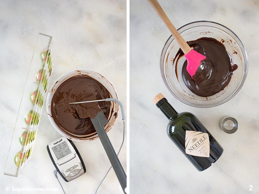 Gin-Pralinen Rezept Needle Blackforest Gin Zubereitung 1