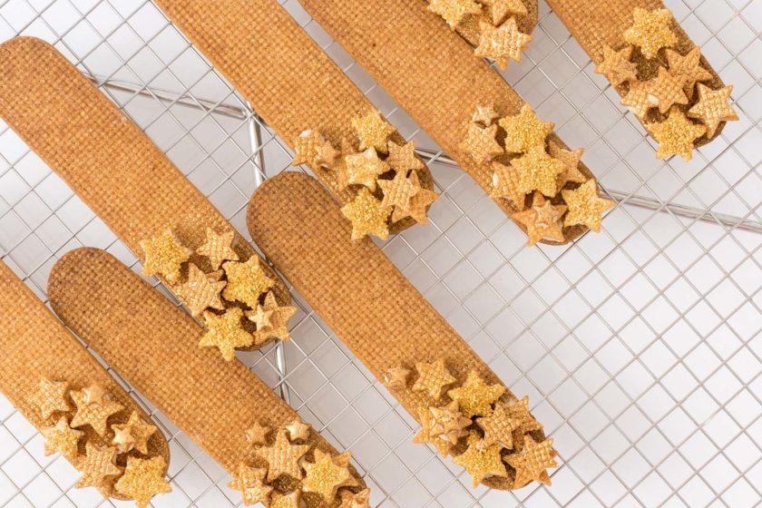 Sternschnuppen-Plätzchen Rezept Spekulatius Sterne