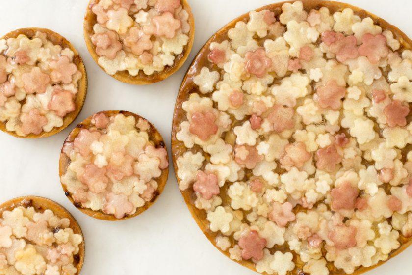 Apfel-Rhabarber-Tarte Rezept Blümchen-Tarte