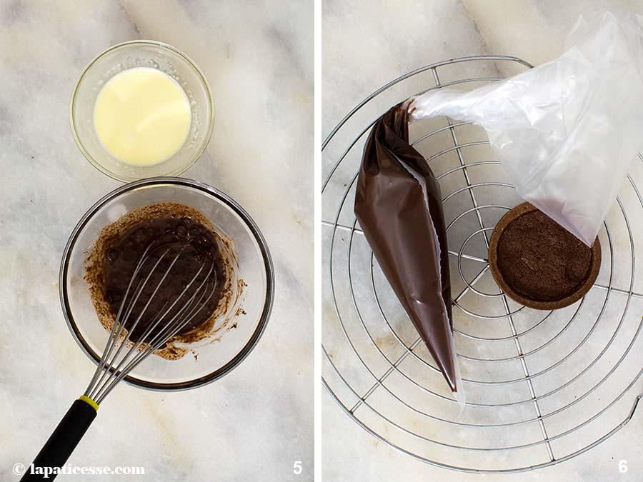Tarte au chocolat Schokoladentarte Rezept Zubereitung 5-6