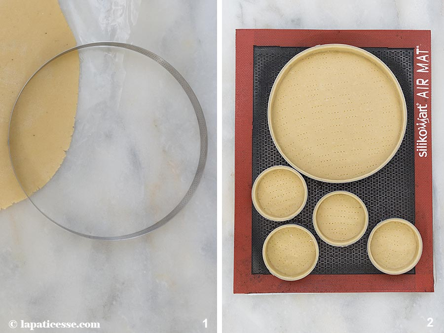 Tarte mille-fleurs Apfel-Rhabarber-Tarte Zubereitung 1-2