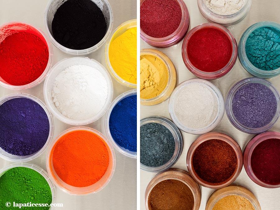 Schokoladenfarbe fettlösliche Lebensmittelfarbe Perlglanzpigmente