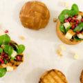 Herbstsalat Brotschüssel Hefeteig Rezept Kürbis 1