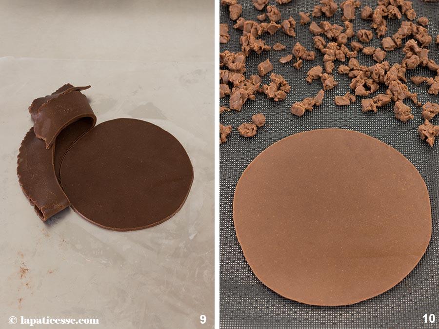 Karibische Torte Pâte sucrée au chocolat Rezept Zubereitung 9-10