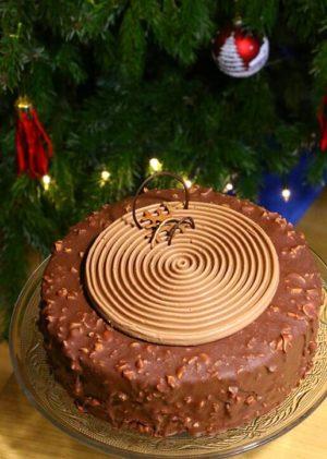 Nachbackbild Schoko-Erdnuss-Torte